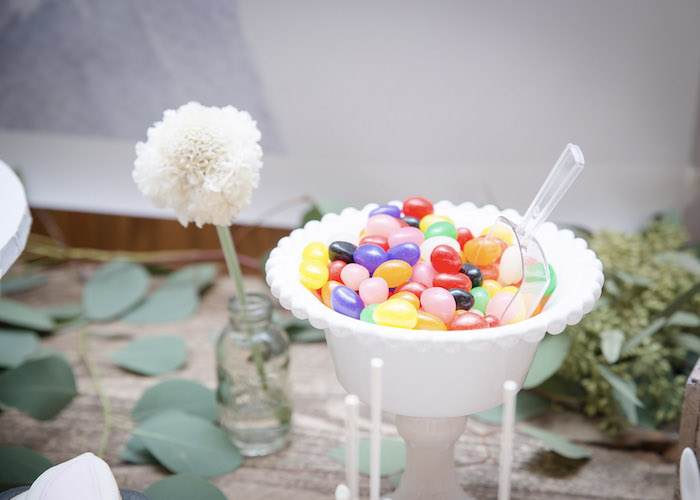Jelly Beans from a Some-Bunny is One Birthday Party on Kara's Party Ideas | KarasPartyIdeas.com (13)