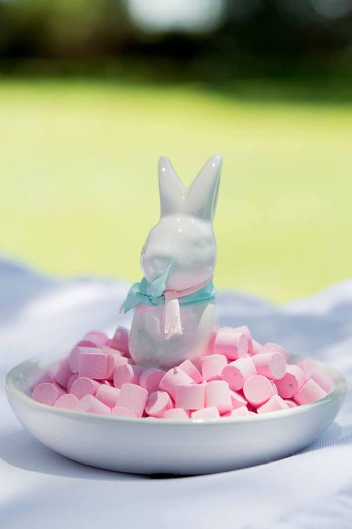 Ceramic Bunny Candy Dish from a Somebunny is One Birthday Party on Kara's Party Ideas | KarasPartyIdeas.com (31)