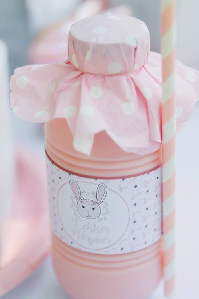 Bunny Beverage from a Somebunny is One Birthday Party on Kara's Party Ideas | KarasPartyIdeas.com (22)