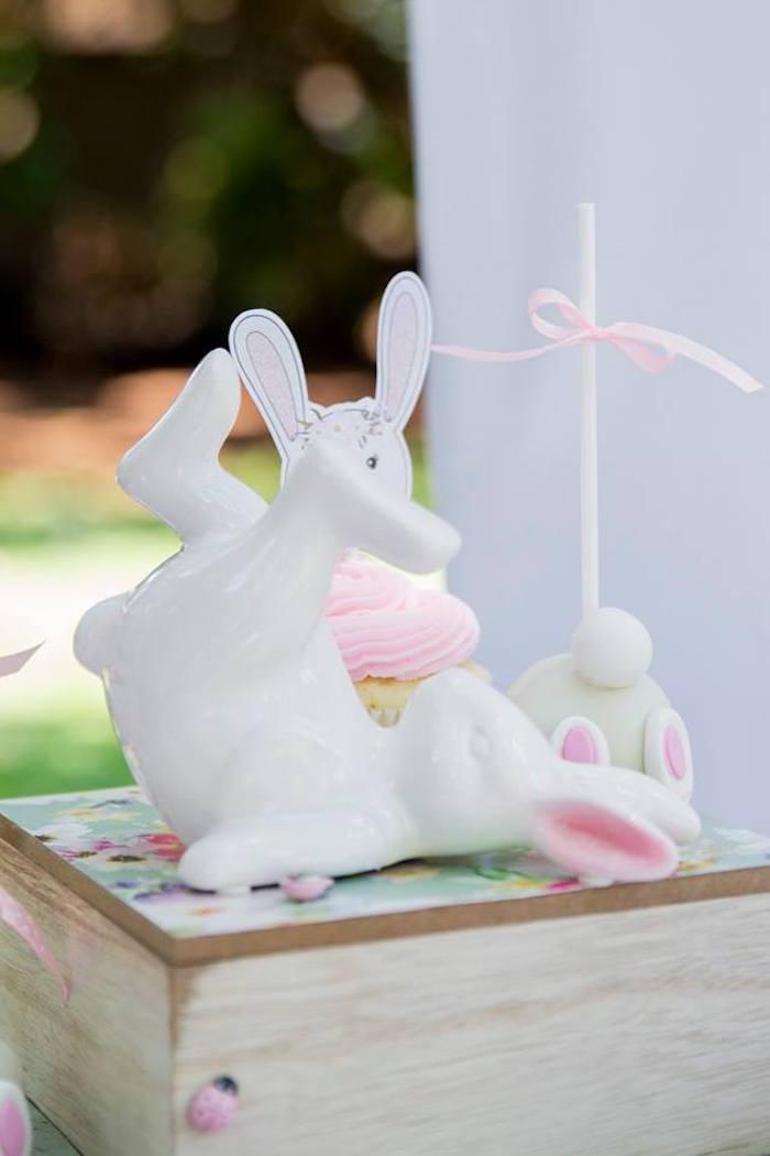 Ceramic Bunny + Dessert Pedestal from a Somebunny is One Birthday Party on Kara's Party Ideas | KarasPartyIdeas.com (19)