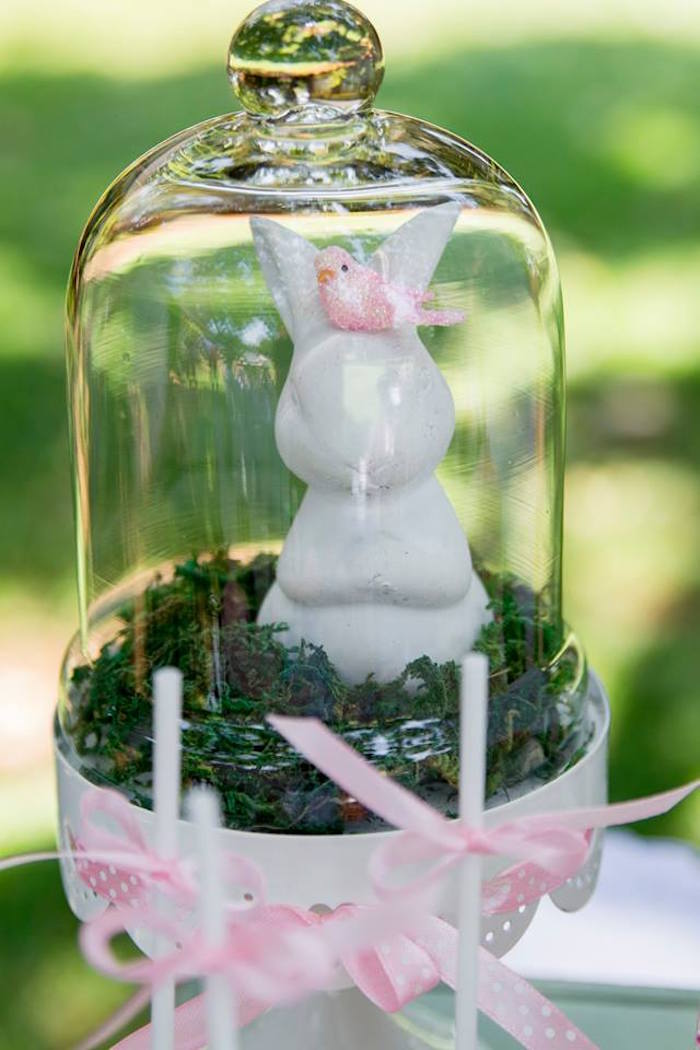 Bunny Cloche from a Somebunny is One Birthday Party on Kara's Party Ideas | KarasPartyIdeas.com (12)