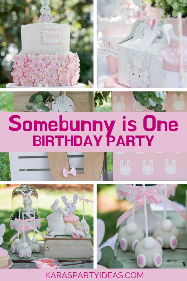 Somebunny is One Birthday Party via Kara's Party Ideas - KarasPartyIdeas.com