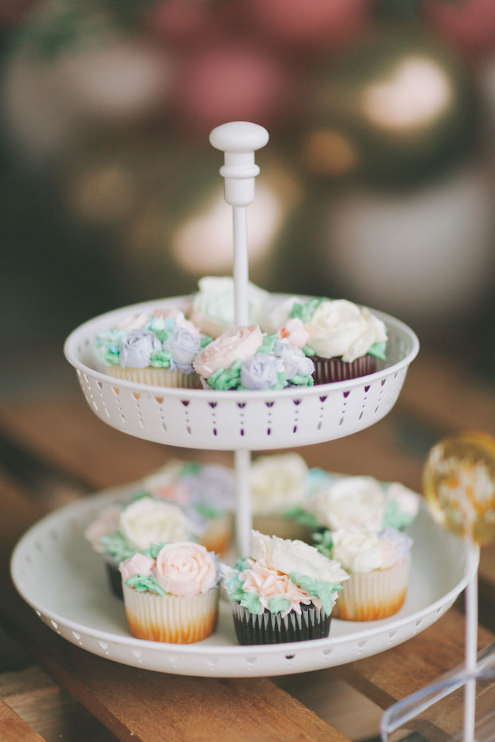 Garden Cupcakes from a Spring Garden Tea Party on Kara's Party Ideas | KarasPartyIdeas.com (22)