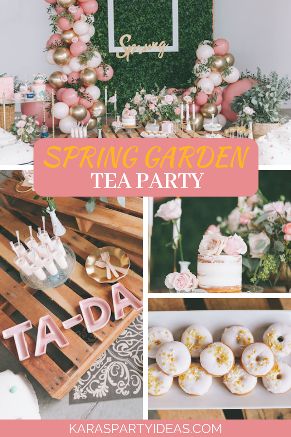 Spring Garden Tea Party via Kara's Party Ideas - KarasPartyIdeas.com