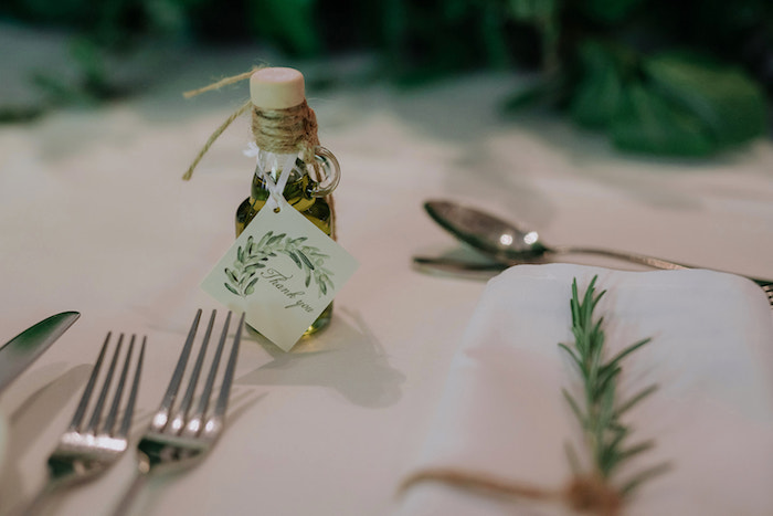 Oil Bottle Favor from a Stylish & Elegant Wedding on Kara's Party Ideas | KarasPartyIdeas.com (20)