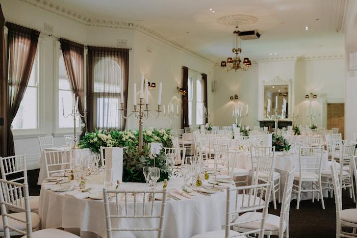 White Guest Tables from a Stylish & Elegant Wedding on Kara's Party Ideas | KarasPartyIdeas.com (19)