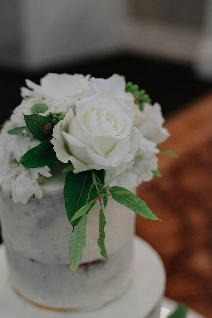 Wedding Cake Top from a Stylish & Elegant Wedding on Kara's Party Ideas | KarasPartyIdeas.com (18)