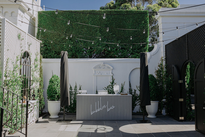 Bubbly Bar from a Stylish & Elegant Wedding on Kara's Party Ideas | KarasPartyIdeas.com (15)
