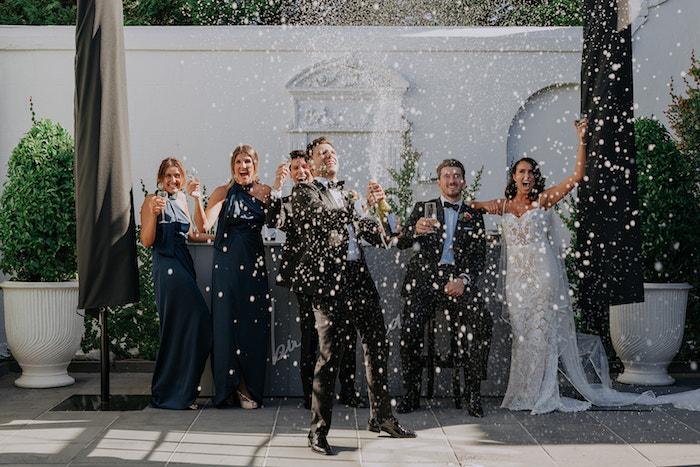 Cheers from a Stylish & Elegant Wedding on Kara's Party Ideas | KarasPartyIdeas.com (14)