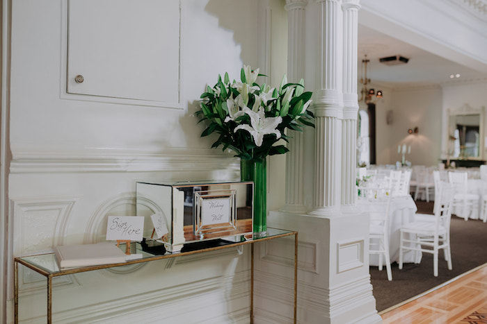 Welcome + Signing Table from a Stylish & Elegant Wedding on Kara's Party Ideas | KarasPartyIdeas.com (12)