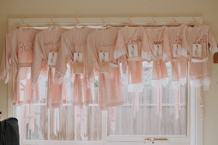 Bridesmaids Robe Gifts from a Stylish & Elegant Wedding on Kara's Party Ideas | KarasPartyIdeas.com (29)