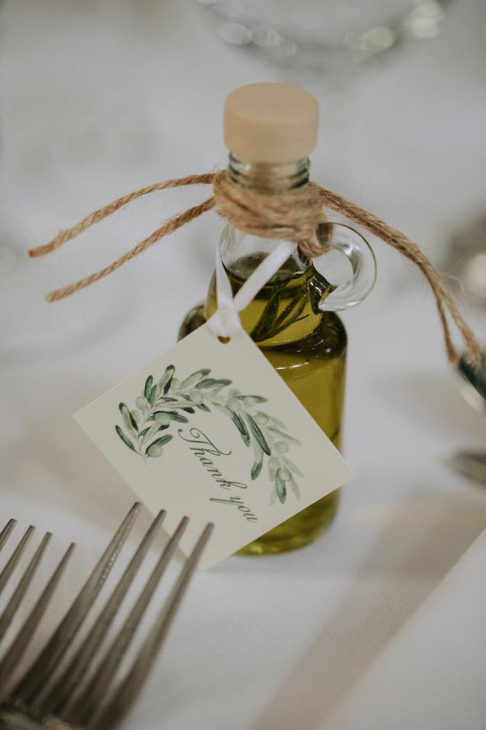 Oil Bottle Favor from a Stylish & Elegant Wedding on Kara's Party Ideas | KarasPartyIdeas.com (8)