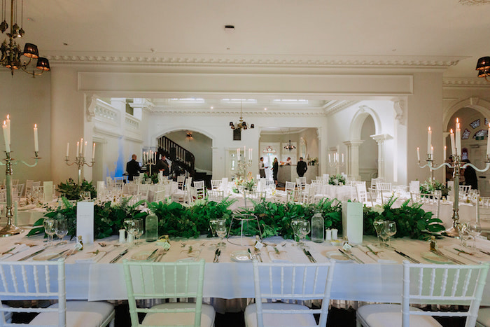 Head Table from a Stylish & Elegant Wedding on Kara's Party Ideas | KarasPartyIdeas.com (6)