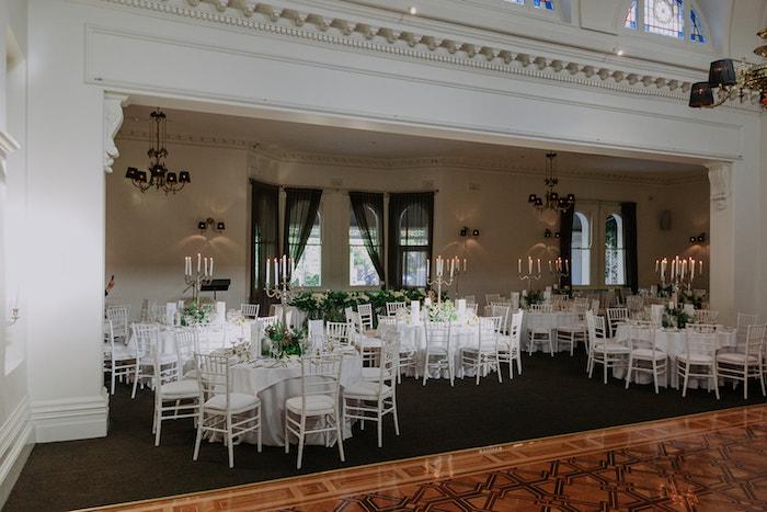 White Guest Tables from a Stylish & Elegant Wedding on Kara's Party Ideas | KarasPartyIdeas.com (5)