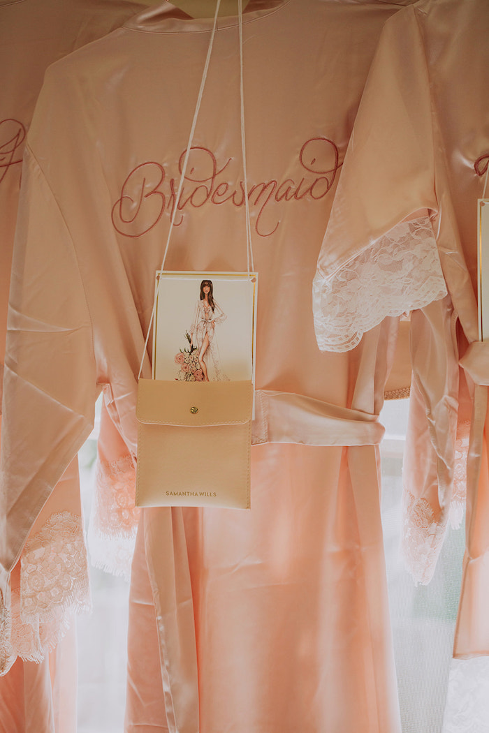 Bridesmaid Robe Gift from a Stylish & Elegant Wedding on Kara's Party Ideas | KarasPartyIdeas.com (28)