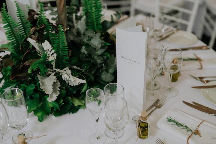 Menu from a Stylish & Elegant Wedding on Kara's Party Ideas | KarasPartyIdeas.com (22)