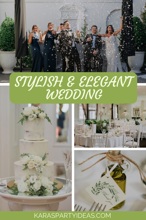 Stylish Elegant Wedding via Kara's Party Ideas - KarasPartyIdeas.com