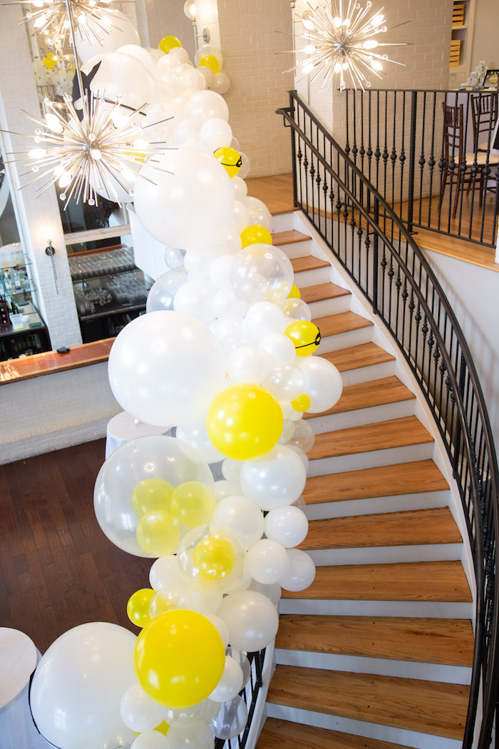 Superhero Balloon Garland from a Superhero Themed Couples Baby Shower on Kara's Party Ideas | KarasPartyIdeas.com (9)