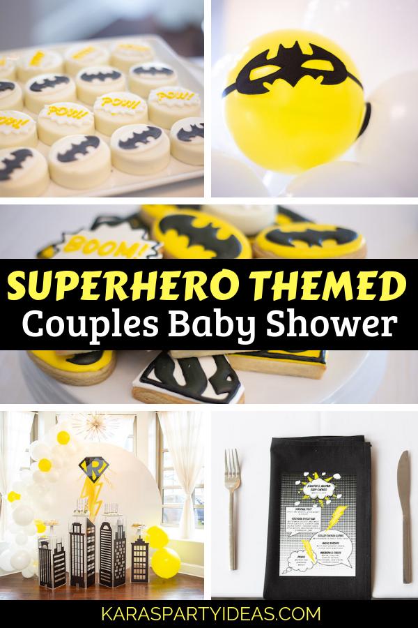 Superhero Themed Couples Baby Shower via Kara's Party Ideas - KarasPartyIdeas.com