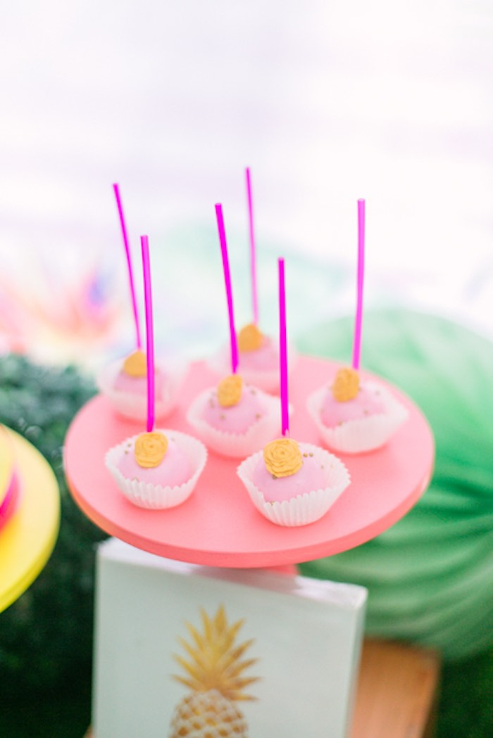 Flamingo Pink Cake Pops from a Sweet Flamingo Summer Birthday Party on Kara's Party Ideas | KarasPartyIdeas.com (8)