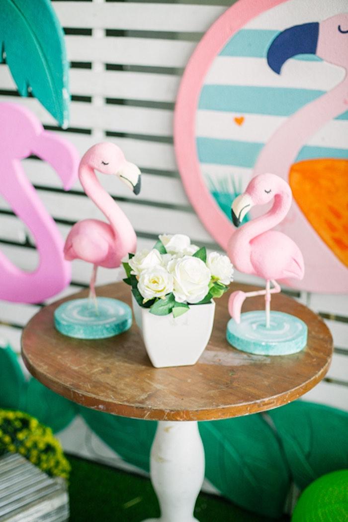Flamingo Table from a Sweet Flamingo Summer Birthday Party on Kara's Party Ideas | KarasPartyIdeas.com (28)