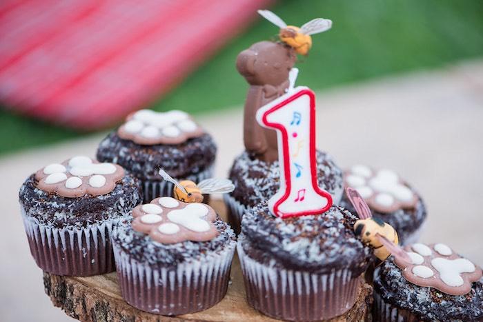 Teddy Bear Cupcakes from a Teddy Bear Picnic Birthday Party on Kara's Party Ideas | KarasPartyIdeas.com (25)