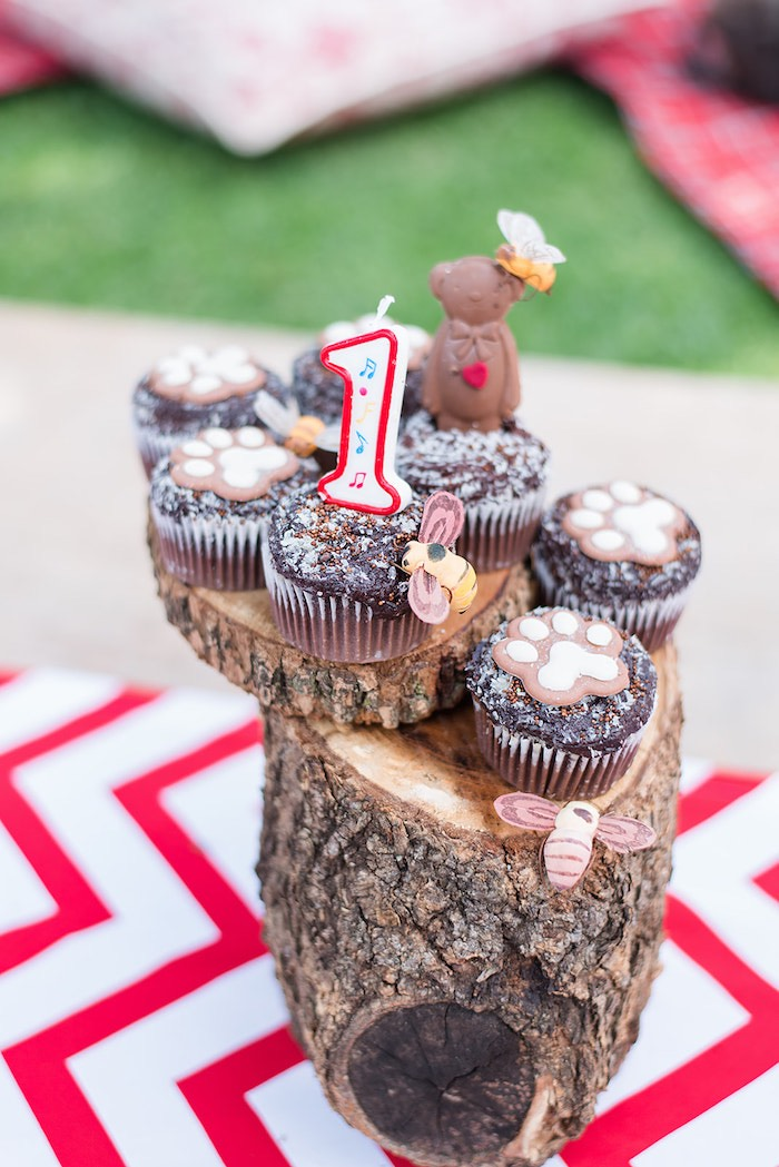 Teddy Bear Cupcakes from a Teddy Bear Picnic Birthday Party on Kara's Party Ideas | KarasPartyIdeas.com (17)