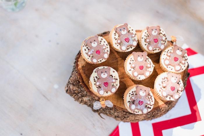 Teddy Bear Cupcakes from a Teddy Bear Picnic Birthday Party on Kara's Party Ideas | KarasPartyIdeas.com (13)