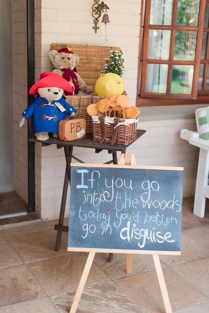Teddy Bear Disguise Table from a Teddy Bear Picnic Birthday Party on Kara's Party Ideas | KarasPartyIdeas.com (12)