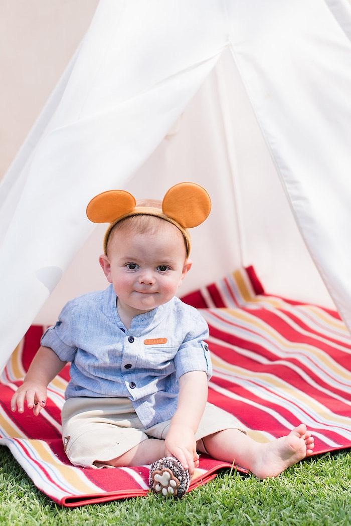 Teddy Bear Ears from a Teddy Bear Picnic Birthday Party on Kara's Party Ideas | KarasPartyIdeas.com (10)