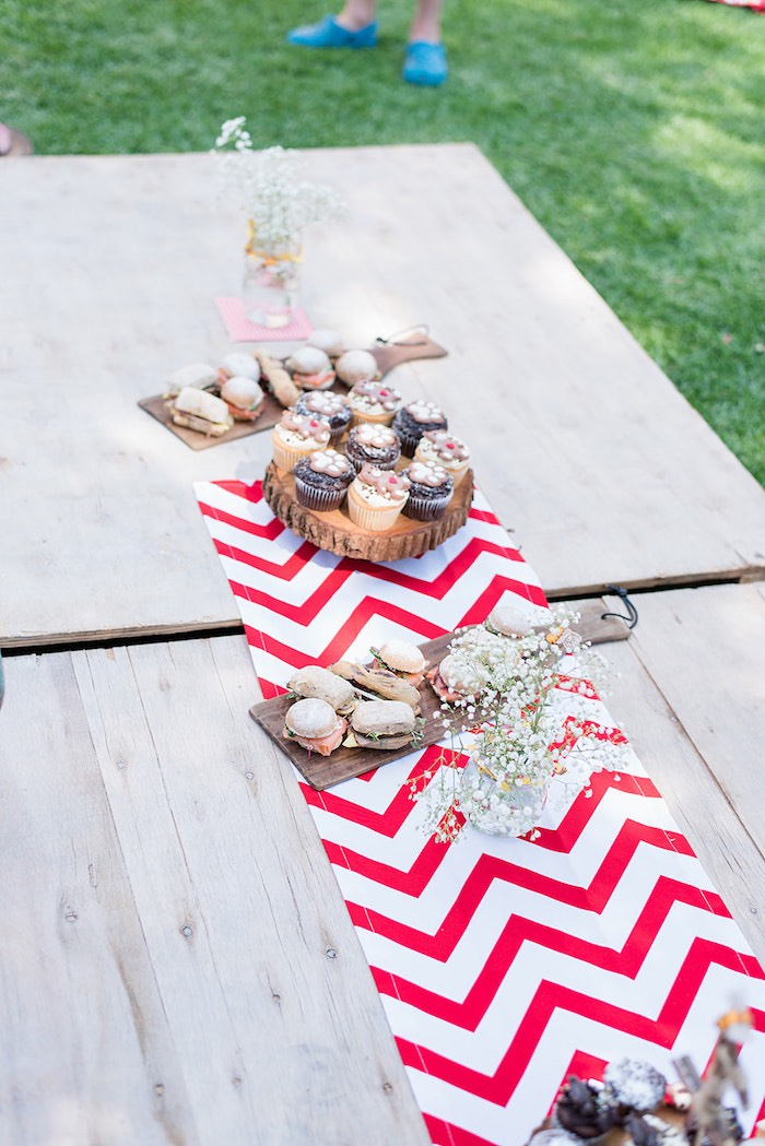 Picnic Party Table from a Teddy Bear Picnic Birthday Party on Kara's Party Ideas | KarasPartyIdeas.com (8)