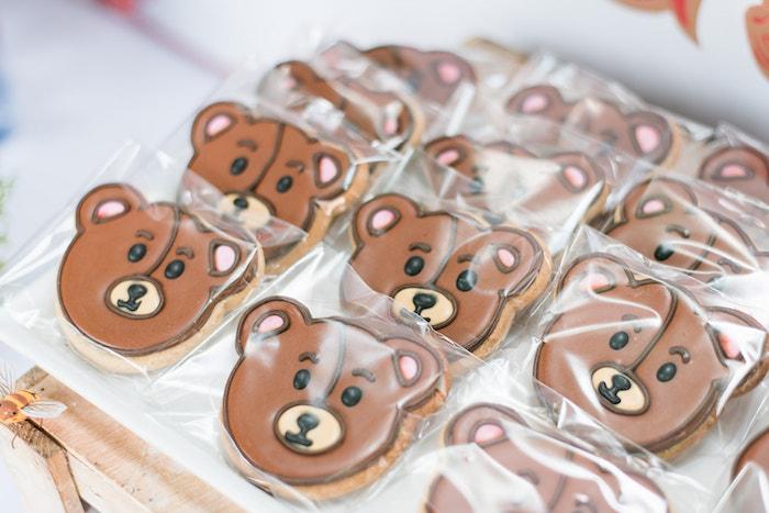Teddy Bear Cookies from a Teddy Bear Picnic Birthday Party on Kara's Party Ideas | KarasPartyIdeas.com (32)