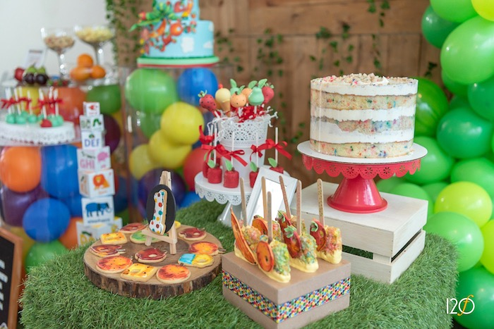 Cake + Dessert Table from a Hungry Caterpillar Inspired Birthday Party on Kara's Party Ideas | KarasPartyIdeas.com (12)