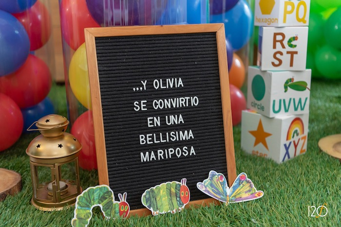 Letter Board Sign from The Hungry Caterpillar Inspired Birthday Party on Kara's Party Ideas | KarasPartyIdeas.com (8)