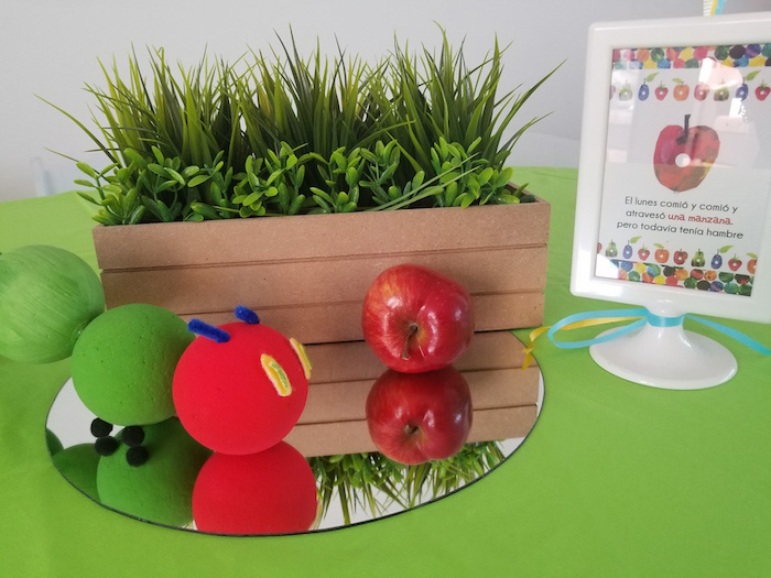 Hungry Caterpillar Table Centerpiece from a Hungry Caterpillar Inspired Birthday Party on Kara's Party Ideas | KarasPartyIdeas.com (28)