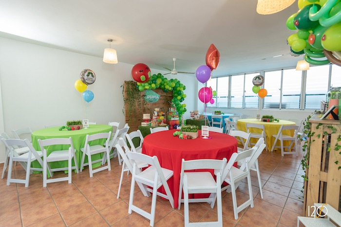 Colorful Guest Tables from a Hungry Caterpillar Inspired Birthday Party on Kara's Party Ideas | KarasPartyIdeas.com (27)