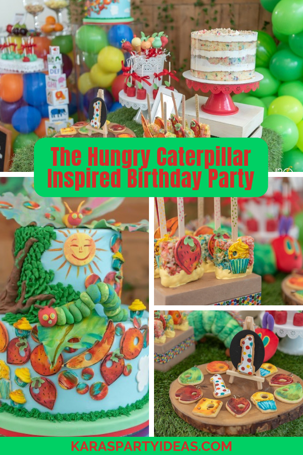 The Hungry Caterpillar Inspired Party via Kara's Party Ideas - KarasPartyIdeas.com