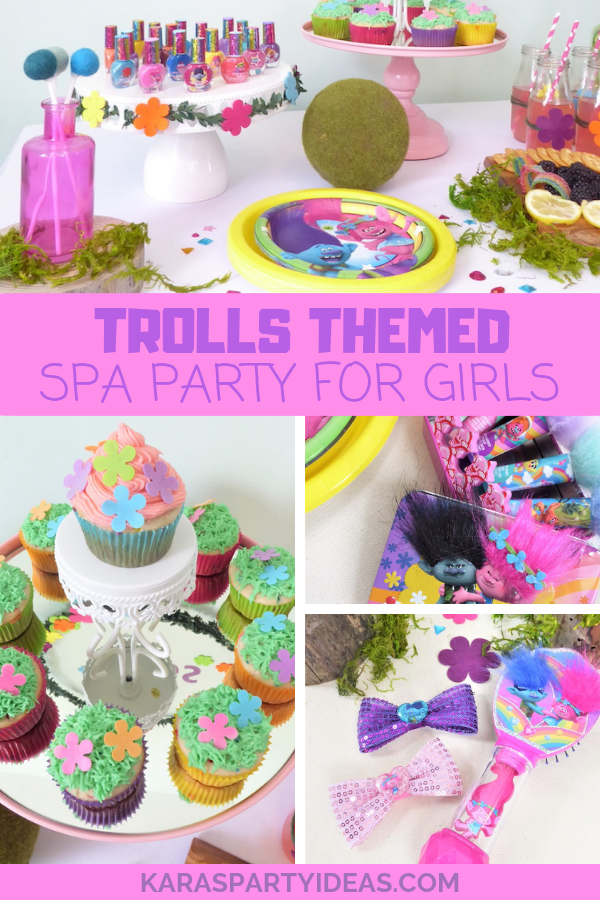Trolls Themed Spa Party for Girls via Kara's Party Ideas - KarasPartyIdeas.com