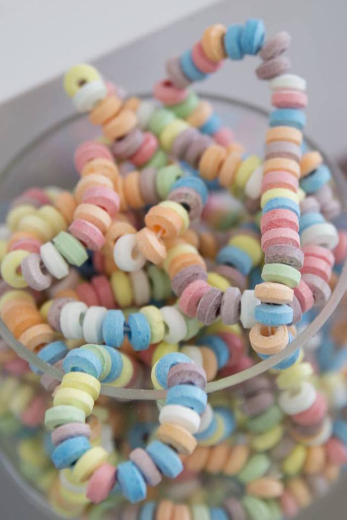 Candy Necklaces from a Unicorns and Dragons Birthday Party on Kara's Party Ideas | KarasPartyIdeas.com (21)