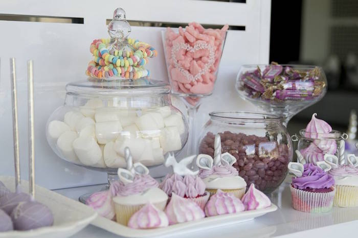 Dessert + Sweet Table from a Unicorns and Dragons Birthday Party on Kara's Party Ideas | KarasPartyIdeas.com (19)