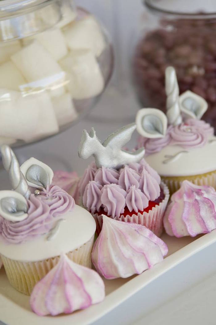 Unicorn & Dragon Cupcakes from a Unicorns and Dragons Birthday Party on Kara's Party Ideas | KarasPartyIdeas.com (4)