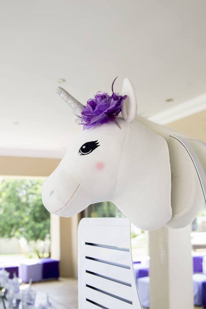 Plush Unicorn Head from a Unicorns and Dragons Birthday Party on Kara's Party Ideas | KarasPartyIdeas.com (25)