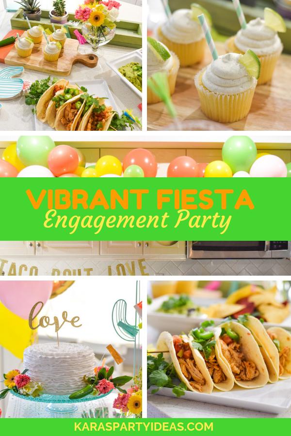 Vibrant Fiesta Engagement Party via Kara's Party Ideas - KarasPartyIdeas.com