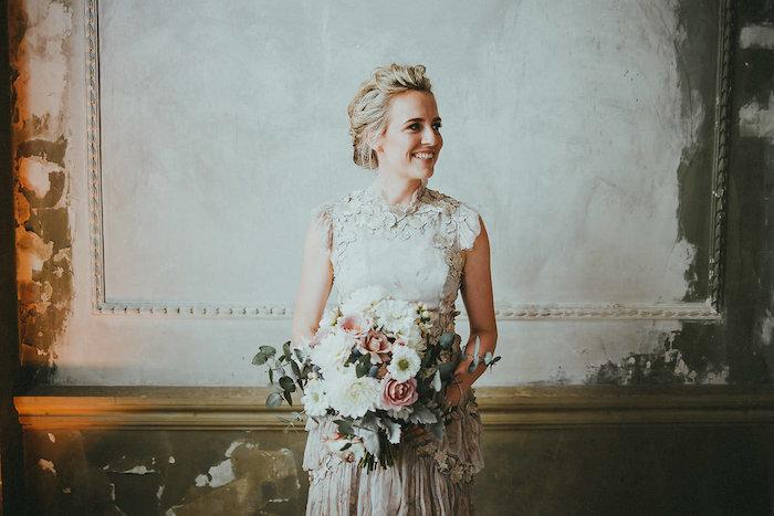 Modern Victorian Bride from a Victorian Regal Wedding on Kara's Party Ideas | KarasPartyIdeas.com (15)