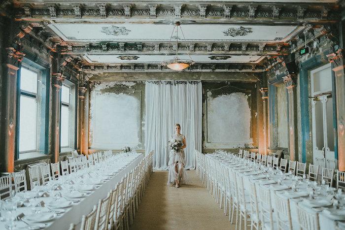Victorian Dining Hall from a Victorian Regal Wedding on Kara's Party Ideas | KarasPartyIdeas.com (12)