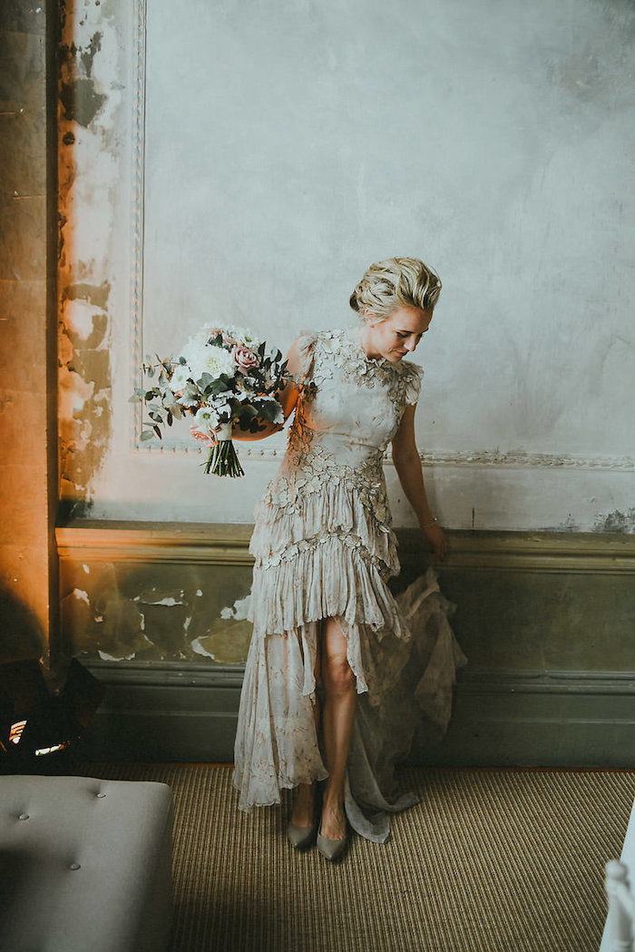 Modern Victorian Bride from a Victorian Regal Wedding on Kara's Party Ideas | KarasPartyIdeas.com (11)