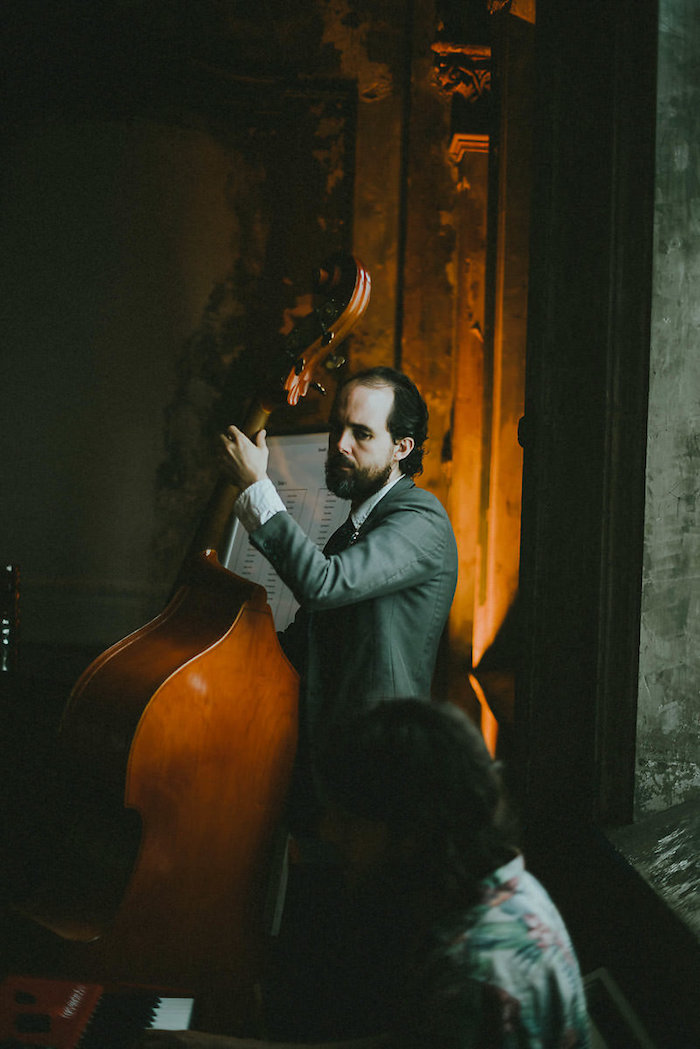 Bass Player from a Victorian Regal Wedding on Kara's Party Ideas | KarasPartyIdeas.com (7)