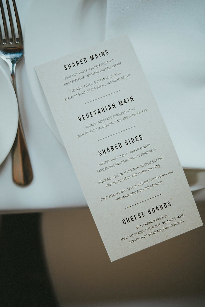 Menu Card from a Victorian Regal Wedding on Kara's Party Ideas | KarasPartyIdeas.com (5)