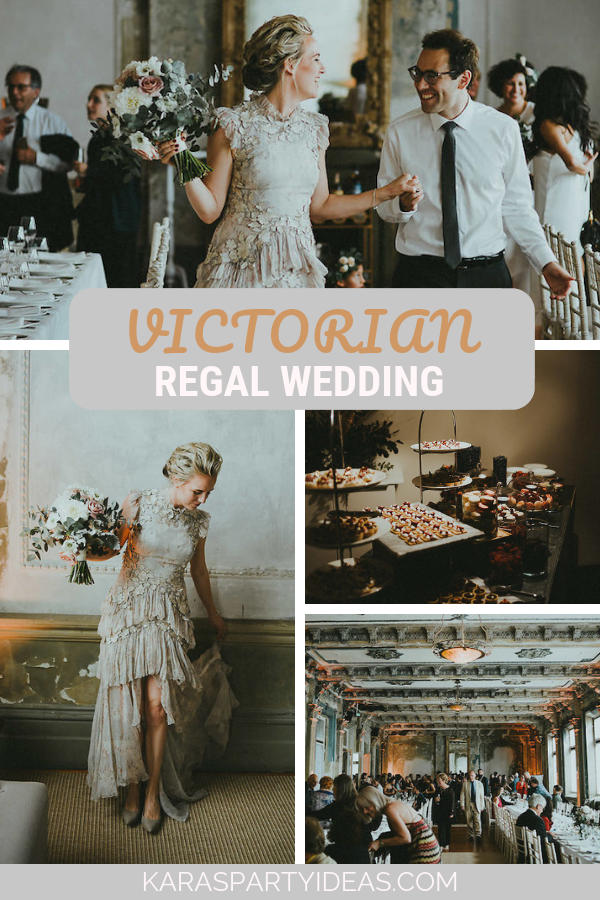 Victorian Regal Wedding via Kara's Party Ideas - KarasPartyIdeas.com