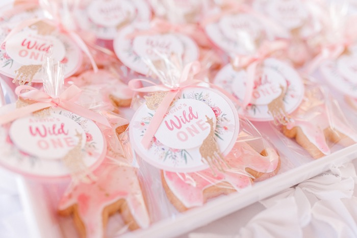 Wild One - Animal Sugar Cookie Favors from a Whimsical Pastel Zoo Animal Birthday Party on Kara's Party Ideas | KarasPartyIdeas.com (5)